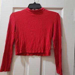 Long-Sleeve Crop Top by H&M. Size S